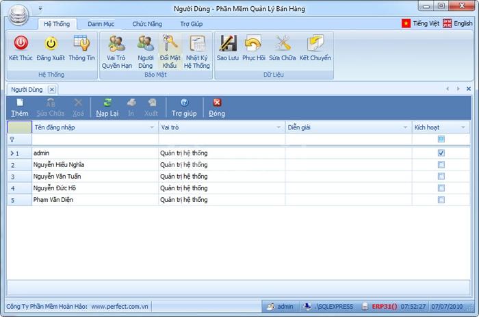 Phần mềm quản lý bán hàng Siêu thị Tekrico