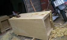 Bán tiểu quách gỗ vàng tâm 100% giá rẻ