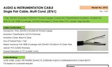 Cáp điều khiển 22AWG - Phân phối cáp tín hiệu 1 cặp xoắn chống nhiễu
