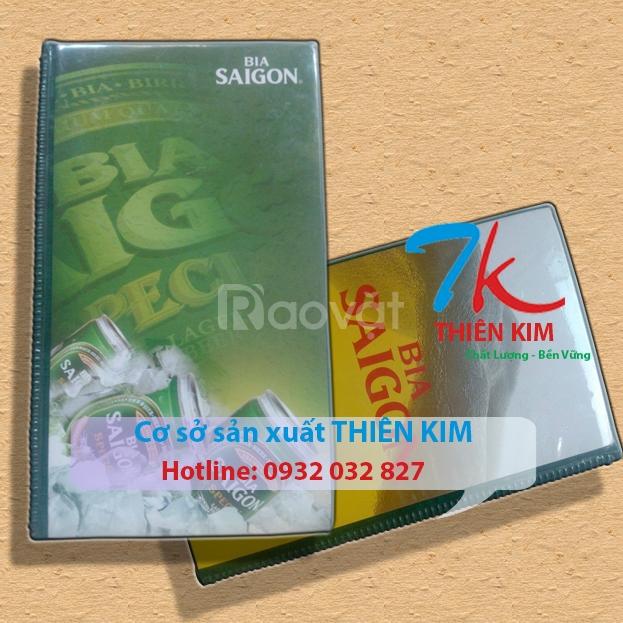 Công ty sản xuất bìa kẹp tính tiền, bìa thực đơn, bìa da giá rẻ