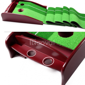 Thảm gạt golf mini, thảm gạt golf gỗ tại nhà