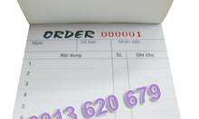 Phiếu order dành cho quán ăn, thức uống,...