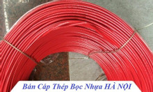 Dây cáp bọc nhựa màu đỏ,dây cáp màu đen,tăng đơ ống inox