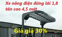 Bán xe nâng điện đứng lái Nichiyu 1,5 tấn, 1,8 tấn cao 4,5 mét giá tốt