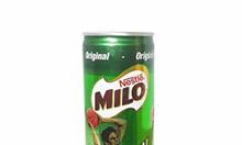 Thùng sữa Milo lon