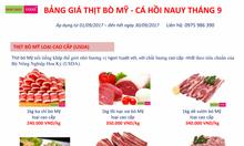 Thịt bò Mỹ, Cá Hồi Nauy nhập khẩu 0975986390