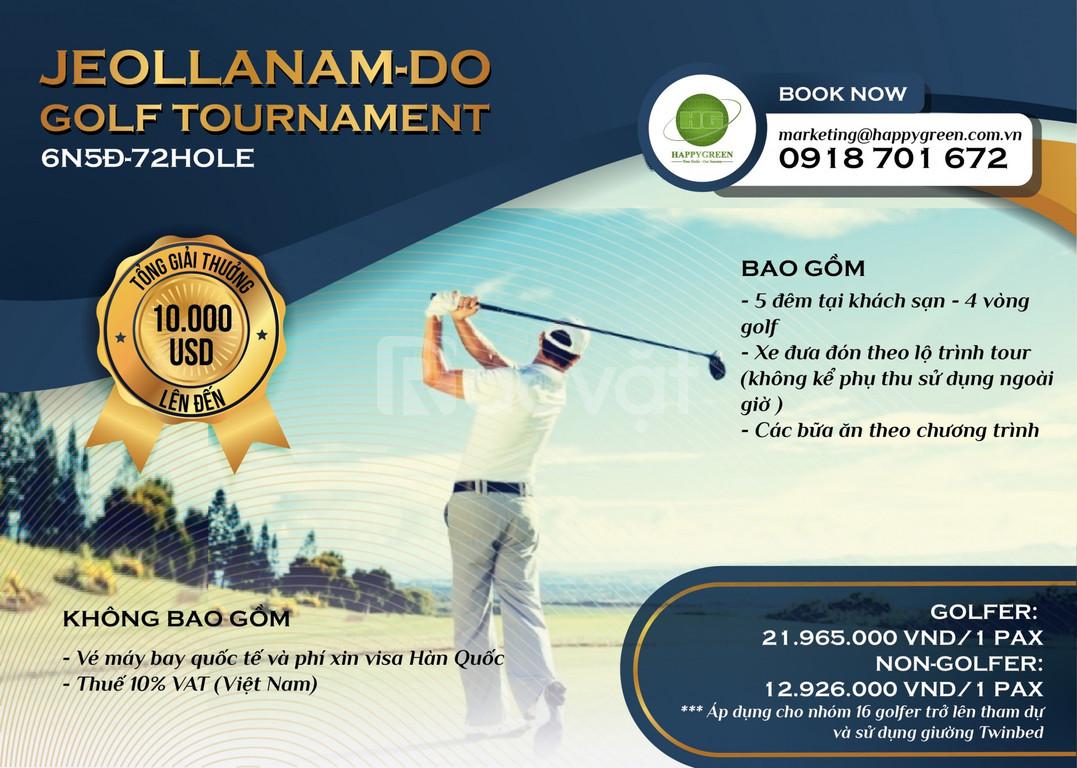 Tour thi đấu Golf Hàn Quốc 6 ngày 5 đêm