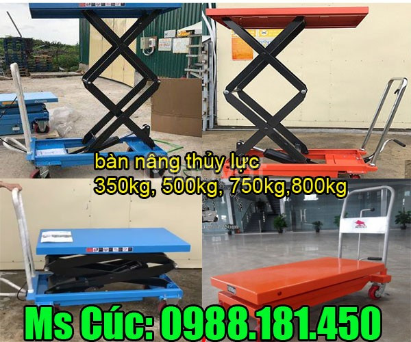 Bàn nâng cây cảnh tại Hà Nam, xe nâng mặt bàn 350kg 500kg 750kg
