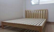 Giường ngủ đôi gỗ tự nhiên đẹp Mercy-1610w