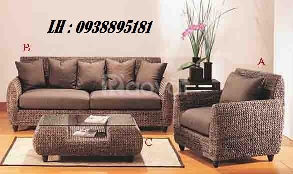 Sofa lục bình, salon lục bình, nội thất lục bình tự nhiên