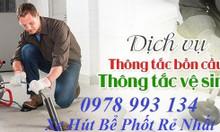 Thông tắc cống bồn cầu thông tắc chậu rửa bát tại Nguyễn Trãi