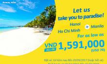 Cebu Pacific tung vé 70 USD, thỏa thích du lịch Manila
