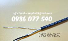 Cáp tín hiệu 1 pair 22 awg, vặn xoắn chống nhiễu, Altek kabel