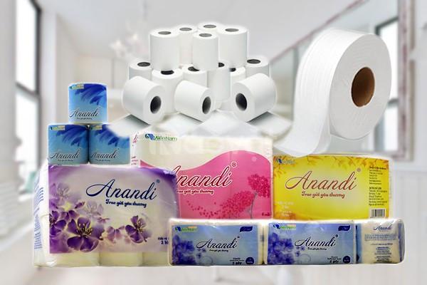 Công ty sản xuất giấy vệ sinh Anandi, khăn giấy vuông Anandi