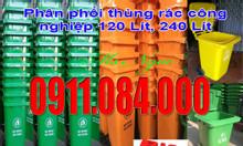 Chuyên bán thùng rác120 lít, 240 lít đủ màu sắc siêu rẻ 0911.084.000
