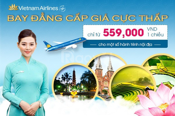 Săn vé Vietnam Airlines khuyến mãi chỉ từ 559.000đ!