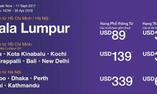 Malindo Air tung vé 89 USD, bay Á, Úc thỏa thích
