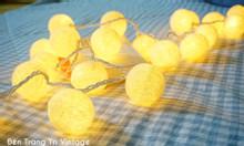 Đèn dây trang trí - Đèn cotton Thái Lan