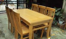 Bộ bàn ăn 6 ghế gỗ tự nhiên