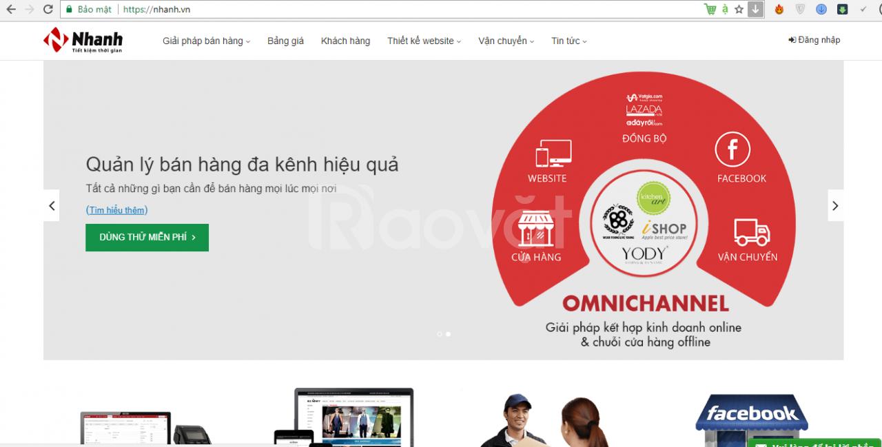 Phần mềm quản lý bán hàng đa kênh Nhanh.vn