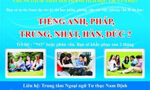 Dạy tiếng Anh căn bản tại Nam Định