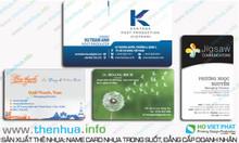 Sản xuất phôi nhựa trong, name card theo yêu cầu khách hàng