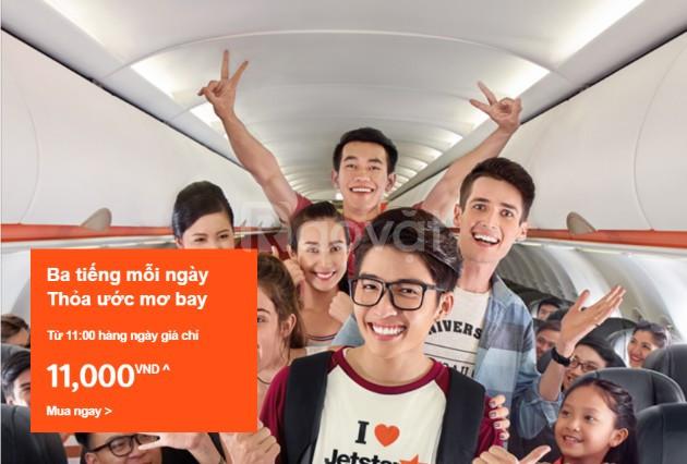 Jetstar bán vé các chặng quốc tế chỉ từ 11.000đ!