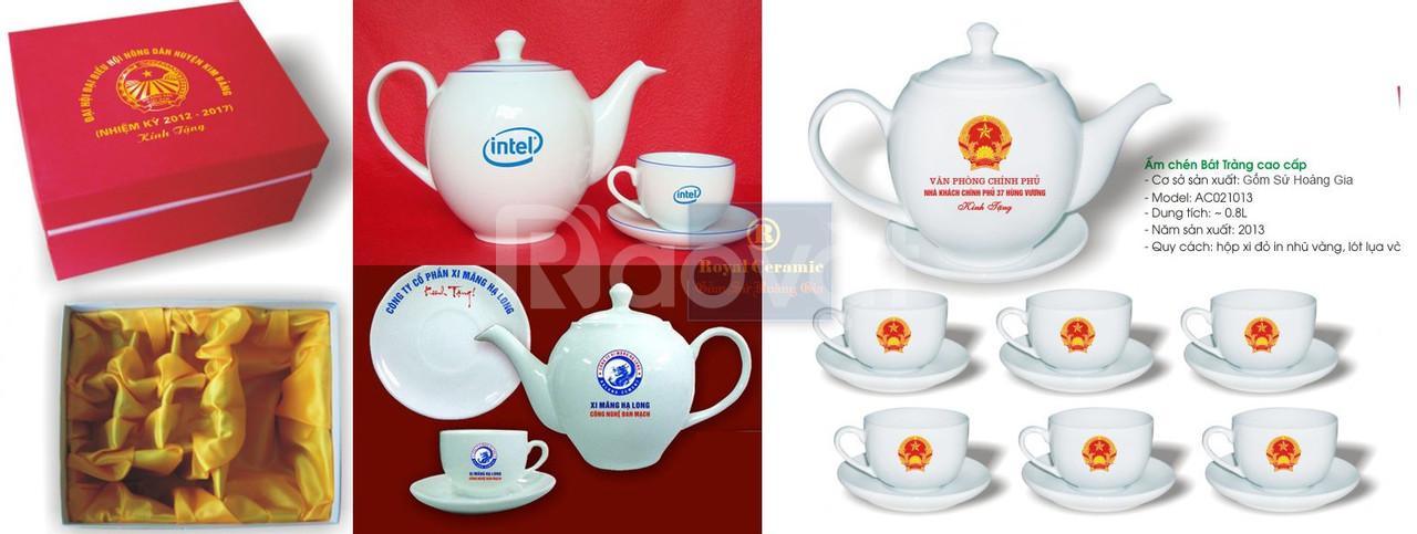 Ấm trà in logo công ty
