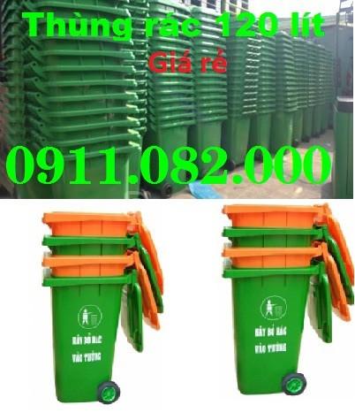 Thùng rác công cộng, thùng rác y tế, thùng rác 120 lít giá rẻ