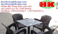 Cung cấp bàn ghế nhựa inox cafe uy tín tại TPHCM