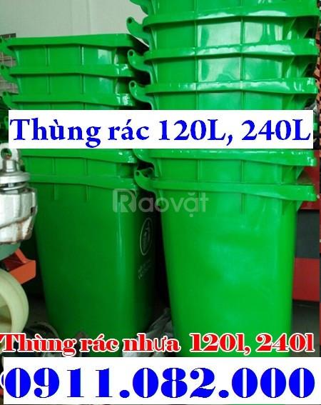 Bán rẻ thùng rác 120l, 240l nhựa HDPE, nắp kín, 2 bánh xe giá rẻ