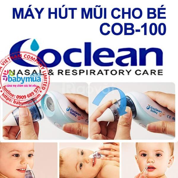Máy hút mũi Coclean Baby - Giải quyết nhanh gọn triệu chứng sổ mũi cho