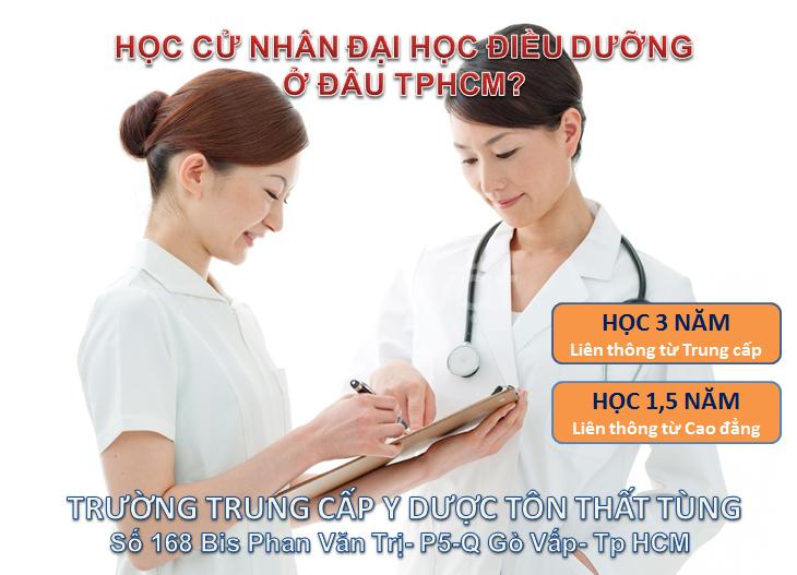 Liên thông từ Trung cấp,Cao đẳng Điều dưỡng lên Đại học Điều dưỡng