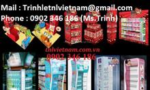 Quầy kệ trưng bày - quầy kệ trưng bày giá rẻ - TNL