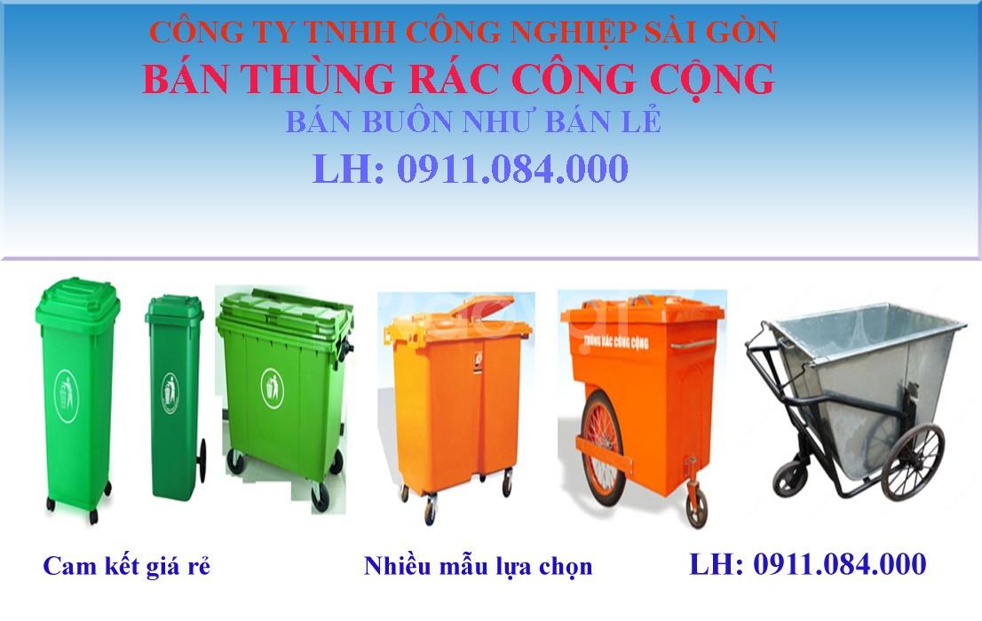 Bán thùng rác 660 lít - xe đẩy rác 660 lít giá rẻ 0911.084.000