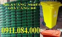 Bán thùng rác công nghiệp 120 lít, 240 lít có bánh xe nhựa hdpe