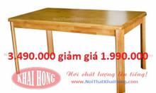 Bàn ăn xuất khẩu 1.4m gỗ cao su tự nhiên