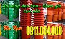 Bán thùng rác 240 lít giá rẻ ở Sóc Trăng, Bạc Liêu 0911.084.000