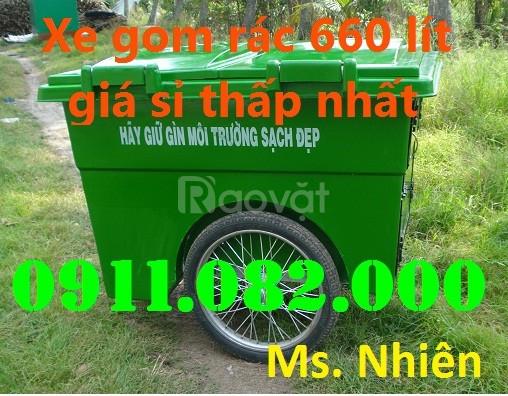 Bán thùng rác nhựa 120 lít giá rẻ-xanh, cam, vàng, nắp kín - nhựa HDPE
