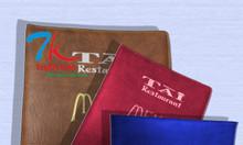 Cơ sở chuyên sản xuất cuốn menu nhựa, xưởng sản xuất bìa menu nhựa