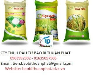 Bao đựng gạo in ống đồng, in flexo giá rẻ