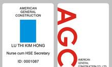 In thẻ vip, thẻ chấm công, thẻ mã vach, thẻ thành viên, thẻ hội viên