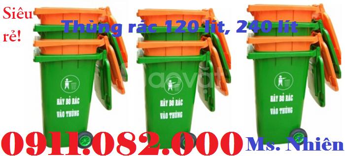Thùng rác 240 lít giá bao nhiêu? thùng rác 120 lít giá rẻ- thùng rác
