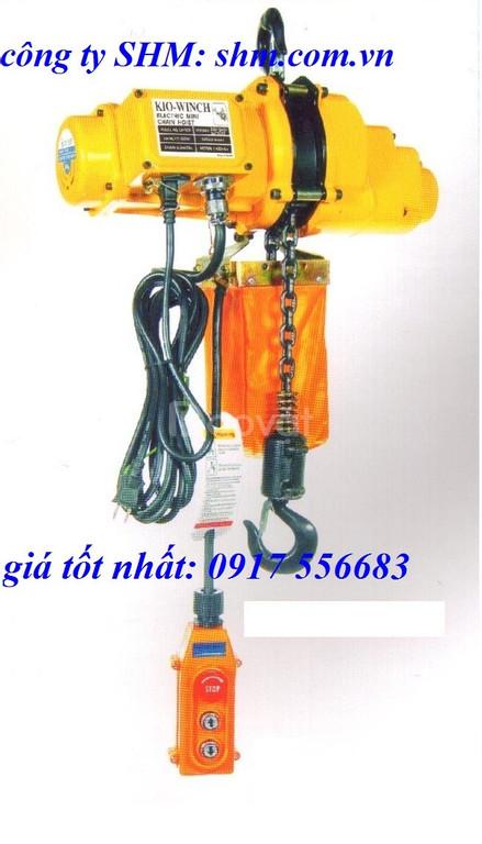 Pa lăng xích điện Đài Loan 500kg, 1 tấn điện 220v