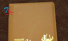 Chuyên sản xuất menu da, làm bìa menu nhựa, bìa kẹp tiền