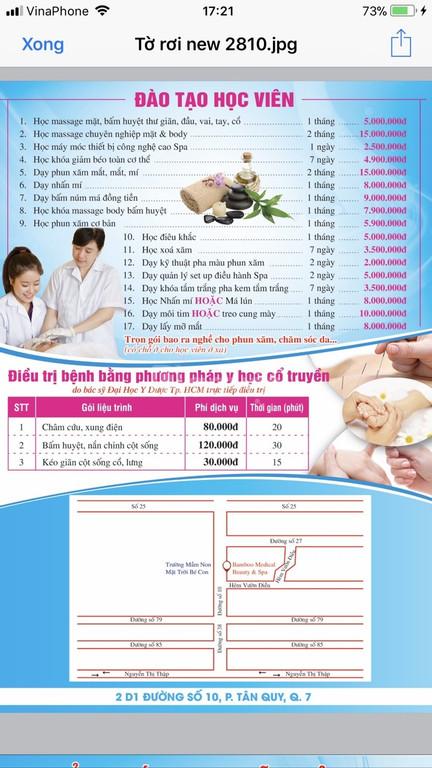 Massage Body, foot, xông hơi, chạy Vitamin C, đắp mặt nạ