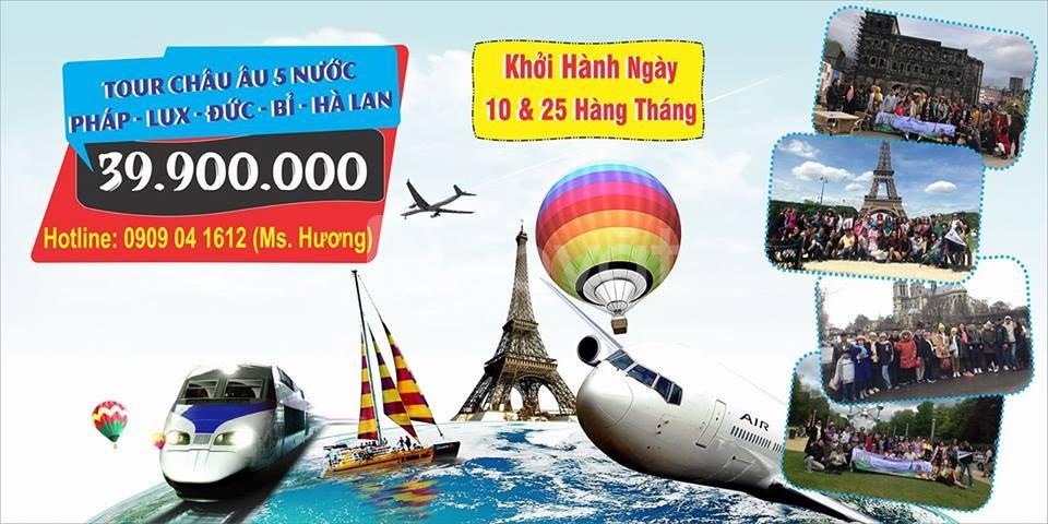 Du lịch Châu Âu giá rẻ 35.900.000