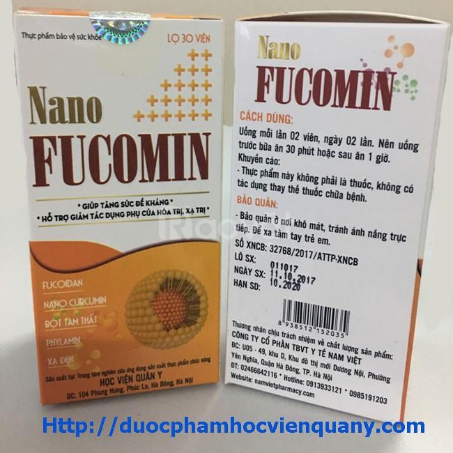 Nano Fucomin Học Viện Quân Y hỗ trợ giảm tác dụng phụ của hóa, xạ trị