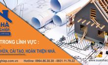 Sửa nhà chuyên nghiệp chuyên thi công sửa chữa, cải tạo, nhà, văn phòng