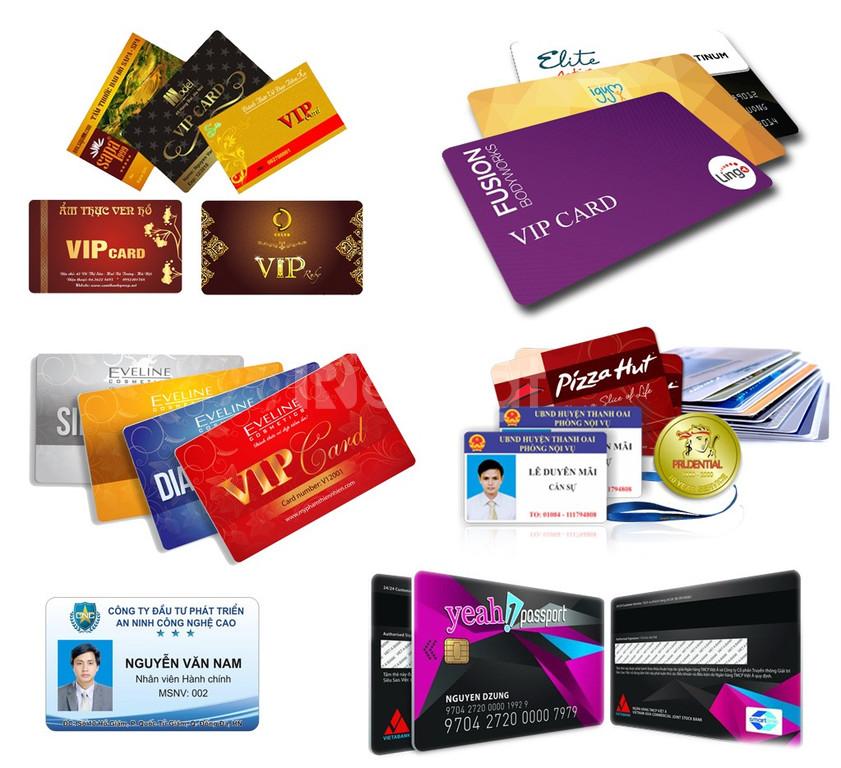 Nhận in thẻ vip, thẻ khuyến mãi, thẻ mã hóa, thẻ chấm công giá rẻ
